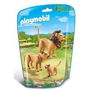 PLAYMOBIL (プレイモービル) Lion Family Building Kit(並行輸入品)|y-evolution