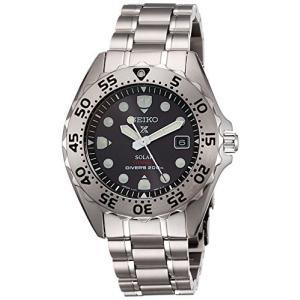 [セイコーウォッチ] 腕時計 プロスペックス ソーラー ダイバーズ チタンモデル カーブハードレックス SBDN013 メンズ シルバー|y-evolution