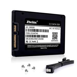 Zheino SSD 240GB 内蔵2.5インチ 7mm 3D Nand 採用 SATA III ...