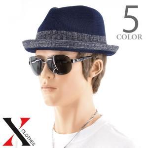ハット メンズ 帽子 中折れ帽 サーモハット 大きいサイズ 黒 白