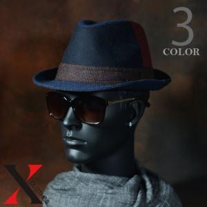 9月7日新作 帽子 メンズ ハット 中折れ ハイバック ウール クレイジー パターン ブラック ネイビー オリーブ メンズ帽子|y-fit