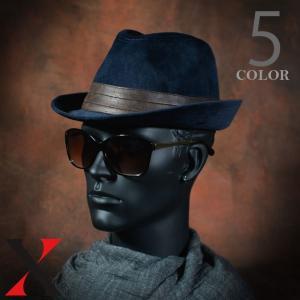 帽子 メンズ ハット 中折れ ハイバック ベロア 無地 ブラック ネイビー カーキ メンズ帽子 メンズファッション|y-fit
