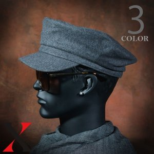 帽子 メンズ キャップ キャスケット メルトン マリン ウール ブラック ベージュ メンズ帽子 メンズファッション|y-fit