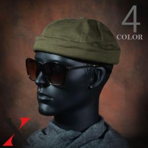 帽子 メンズ キャップ フィッシャーマンキャップ コットン ロールキャップ ブラック デニム カーキ ツバなし|y-fit