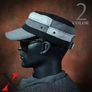 帽子 メンズ キャップ レイルキャップ バイカラー ブラック スウェット クレイジーレイル ワークキャップ|y-fit