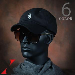 帽子 メンズ キャップ ベースボールキャップ NYC 刺繍 ブラック ホワイト コットン|y-fit