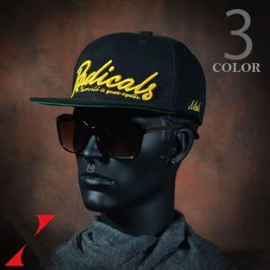 帽子 メンズ キャップ 平ツバ ツバ狭 RADICALS エンブレム 刺繍 BIGSIZE 大きいサイズ 61cm|y-fit