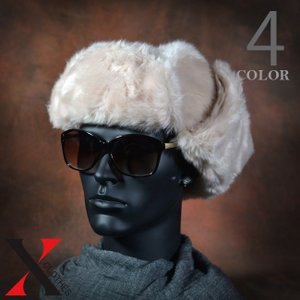 帽子 メンズ キャップ アビエーターキャップ フェイクファー ファー 防寒 メンズファッション|y-fit