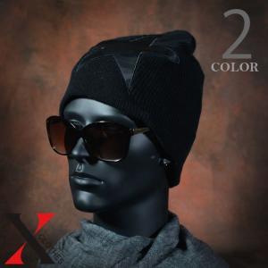 帽子 メンズ ニット ワッチキャップ ワイドニット ワイド コットン スター 星 パッチ|y-fit