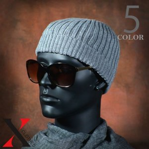 帽子 メンズ ニット ワッチキャップ ショートダブル ビーニー ホワイト グレー ブラック|y-fit