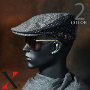 9月7日新作 帽子 メンズ ハンチング ウール 久留米絣 絣 ミズタマトリウチボウ 鳥打帽 水玉 ブラック ブラウン メンズ帽子|y-fit