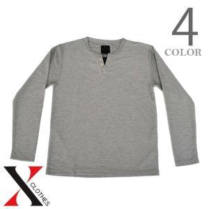 Tシャツ カットソー メンズ 長袖 無地 長袖Tシャツ トップス 秋 クレーター天竺 天竺 キーネック メンズファッション|y-fit