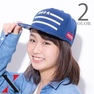 キャップ レディース メンズ 帽子 ベースボールキャップ 星 刺繍 平ツバ 女の子 男女兼用|y-fit