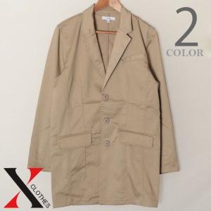チェスターコート メンズ コート アウター ジャケット ロングジャケット ストレッチ ツイル メンズファッション ベージュ ネイビ|y-fit