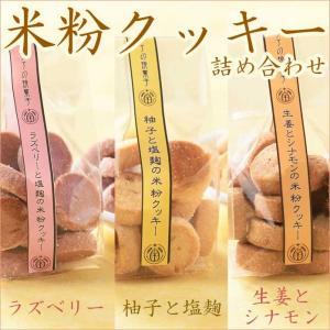 ▽商品詳細 ■名称:米粉クッキー詰め合わせ ■内容量:ラズベリーと塩麹(60g)1袋、生姜とシナモン...