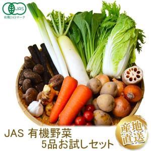 有機野菜 少量5品目お試しセット  有機野菜を初めての方におすすめのセット にんじん たまねぎ 小松菜 ミニトマト|y-fresh