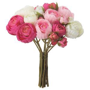 《 造花 》Asca/アスカ ☆ラナンキュラスバンチ×14 つぼみ×4 (1束10本)|y-hanabishi