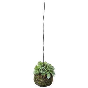 《 造花 グリーン 多肉植物 》Asca/アスカ ハンギングサッカレンテン フロストグリーン|y-hanabishi