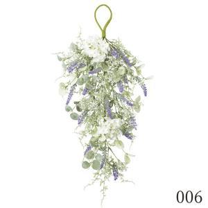 《 造花 》Asca/アスカ ミックスフラワースワッグ ラベンダ-|y-hanabishi