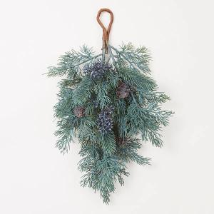 《 クリスマス リース 》◆とりよせ品◆花びし スモールベリーティアドロップ ブルー/グリーンの画像