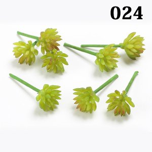 《 造花 グリーン 多肉植物 》☆即日出荷☆花びし/ハナビシ(ソクジツ) ミニアエオニウムピック(1袋8本入り) グリーン|y-hanabishi