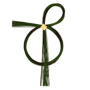 《 正月 花器 ベース 》Parer/パレ 水引リース 緑/黒|y-hanabishi