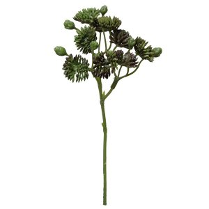 《 造花 グリーン 多肉植物 》Parer/パレ セダムピック グリーンレッド|y-hanabishi