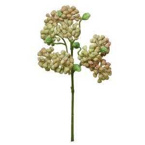 《 造花 グリーン 多肉植物 》Parer/パレ セダムピック ピーチ|y-hanabishi