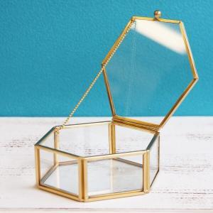 《 ガラス ベース 》★即日出荷★POSH LIVING/ポッシュリビング ガラスケースS 六角形|y-hanabishi
