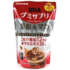 UHA味覚糖 グミサプリ 亜鉛&マカ コーラ味 105日分 210粒|y-itoya