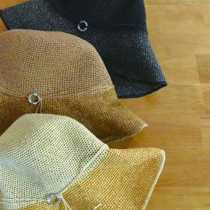 帽子 手編み リング付き細編みハット 紫外線対策 UVケア (宅配260円で発送)|y-kanehoshiya