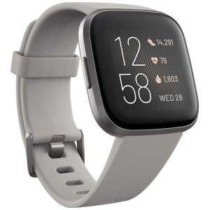 Fitbit Versa 2 Alexa搭載 スマートウォッチ Sandstone/Iron Mi...