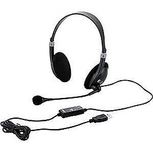 ナカバヤシ ヘッドセット「USB」ノイズ低減マイク MHM‐SU13BK