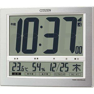 シチズン 電波掛置兼用時計「パルデジットワイド140」 8R...