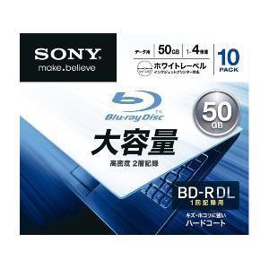 ソニー 4倍速対応 データ用Blu−ray BD−R DLメディア(50GB・10枚) 10BNR2DCPS4