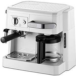 デロンギ 「エスプレッソマシン兼用」コーヒーメーカー BCO410J‐W (ホワイト)