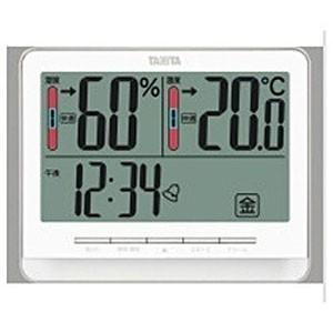 タニタ デジタル温湿度計 TT‐538‐WH (ホワイト)|y-kojima