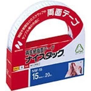ニチバン 「両面テープ」ナイスタック 一般タイプ(サイズ:15mm×20m) NW‐15