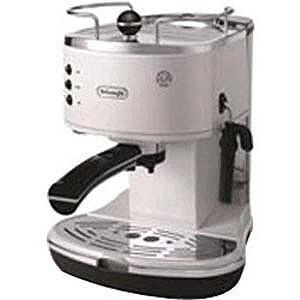 デロンギ 「エスプレッソマシン兼用」コーヒーメーカー(1.4L) ECO310W (ホワイト)