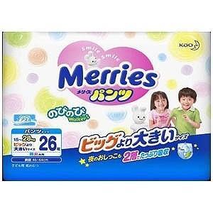 花王 Merries(メリーズ) パンツ さらさらエアスルー ビッグより大きいサイズ 26枚 メリーズPBダイ26