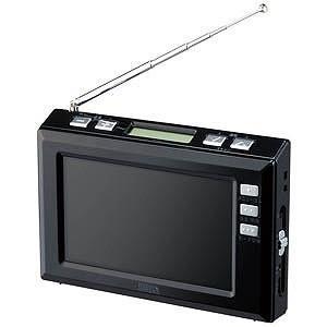 ヤザワコーポレーション FM/AM 4.3インチワンセグTV(ブラック) TV03BK