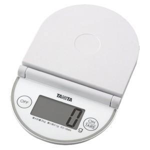タニタ デジタルクッキングスケール(2kg) KD‐184N‐WH (ホワイト)