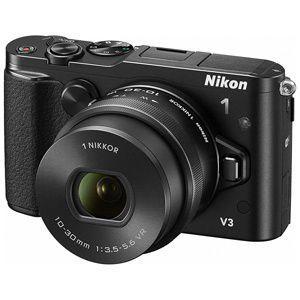 ニコン ミラーレス一眼カメラ「Nikon 1 V3」標準パワーズームレンズキット NIKON1V3HPLK(BK)(ブラック)