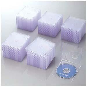 エレコム CD/DVD/Blu−ray対応収納スリムケース (1枚収納×100セット・クリア) CCD‐JSCS100CR
