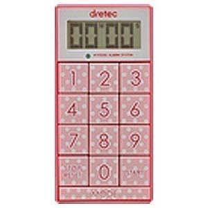 ドリテック デジタルタイマー「スリムキューブ」 T−520PK ピンク