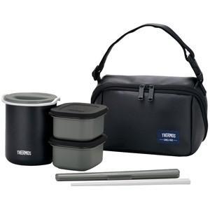 サーモス 保温弁当箱(茶碗1.8杯分)  DBQ‐362‐MTBK (マットブラック)|y-kojima