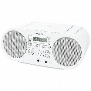 ソニー CDラジオ ZS‐S40(W)(ホワイト)|y-kojima