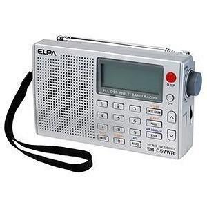 エルパ 「ワイドFM対応」FM/MW/SW(短波)/LW(長波)/AIR(エアバンド) 携帯ラジオ ER‐C57WR|y-kojima