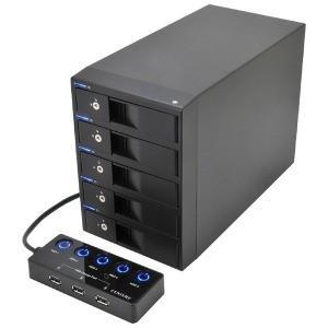 その他メーカー USB3.0対応 SATA3.5HDDケース 裸族のカプセルホテル5Bay  CRCH535U3ISC|y-kojima
