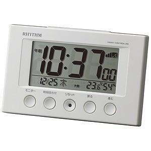 リズム時計工業 電波目覚まし時計「フィットウェーブスマート」 8RZ166SR03 (白)